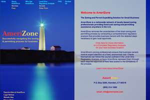 Layout for Amerizone Website