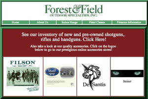 Layout of Forest & Field E-Commerce Website
