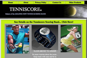 Layout for the Tenniscore Website