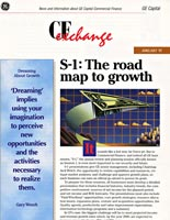 Layout of GE Capital CFX Print Newsletter Cover