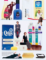 Chesebrough-Pond's and Unilever Cover of Cabinet People Print Brochure Design