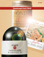 Layout of Chesebrough-Pond's and Unilever Cover of Sand Print Brochure