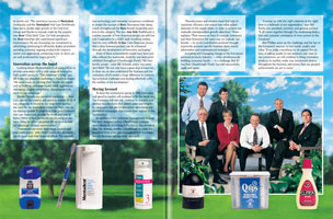 Layout of Chesebrough-Pond's and Unilever Spread of Sky Print Brochure