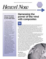 Layout of Hexcel Globe Print Newsletter Cover