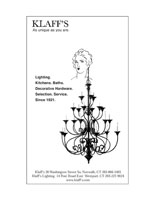 Layout of Klaff's Big Earrings Print Advertisement
