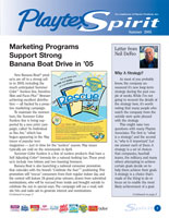 Playtex Spirit Quarterly Newsletter Design cover