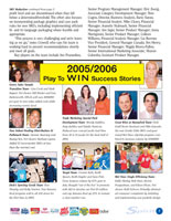 Layout of Playtex Spirit Quarterly Newsletter inside