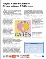 Layout of Playtex Spirit Quarterly Newsletter spread