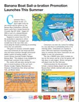 Layout of Playtex Newsletter spread