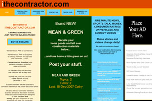 Layout of iTheContractor Web Site